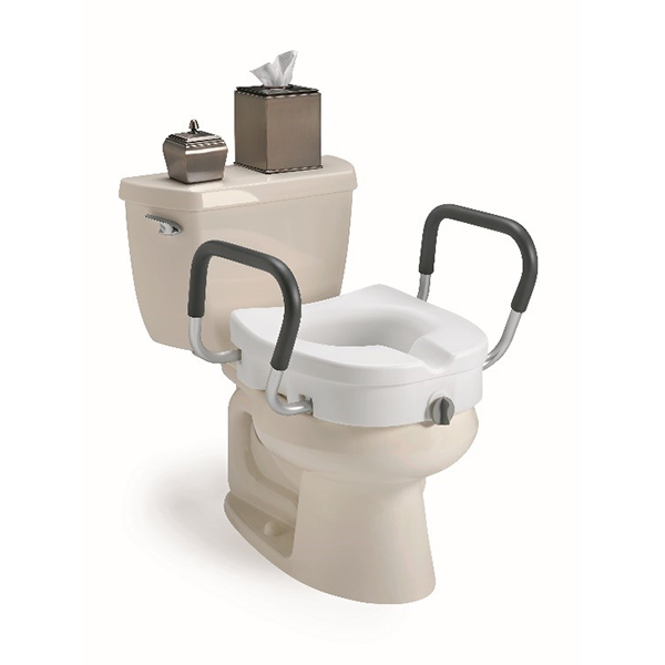 Clamp On Raised Toilet Seat With Arms Lake Surgical Supply
